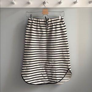 Basic Apparel Sweater Like Striped Skirt